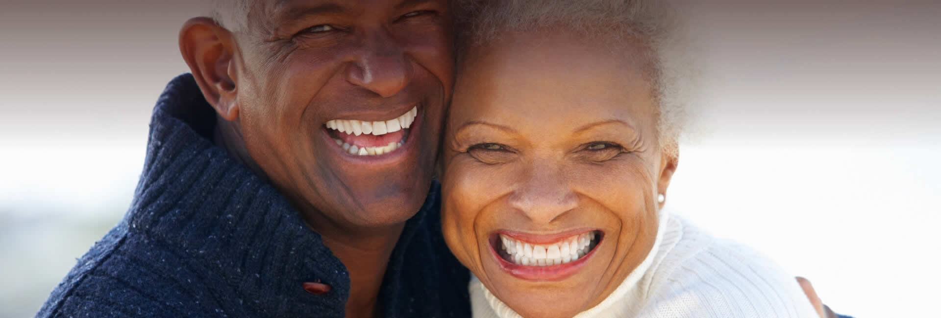A happy aged couple of African descent